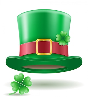 Saint patrick's day kabouter hoed vector illustratie