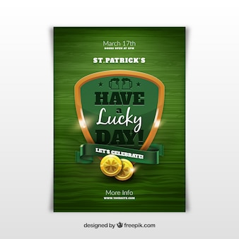 Saint patrick's day poster in realistische stijl