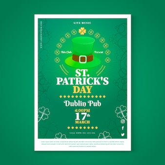 Saint patrick's day poster sjabloon