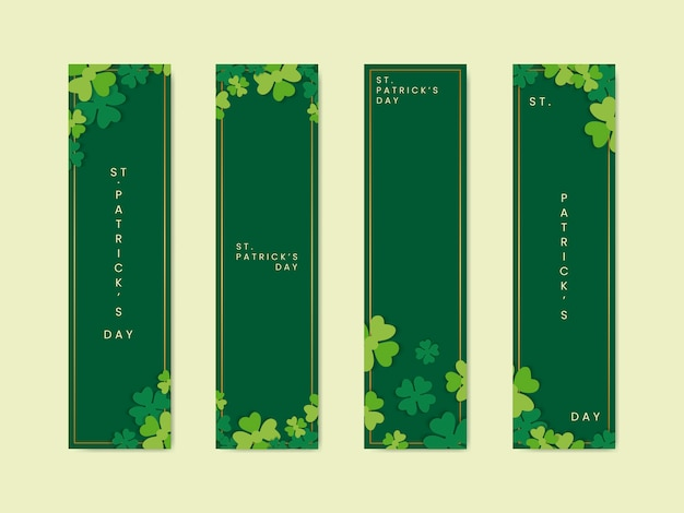 Saint patricks dag banners