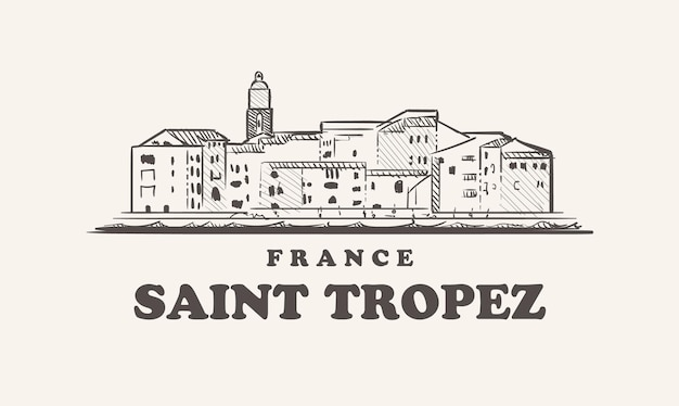 Saint tropez skyline afbeelding ontwerp