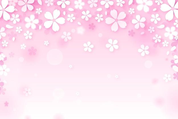 Sakura achtergrond met kleurovergang