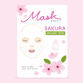 Sakura mask sheet