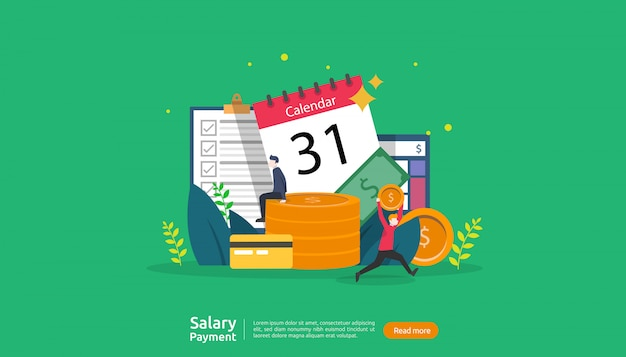 Salaris betaling concept