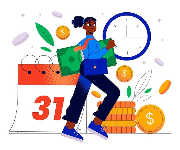 Salaris betalingsconcept