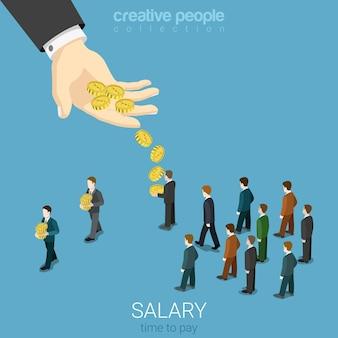 Salaris loon bedrijfsconcept plat