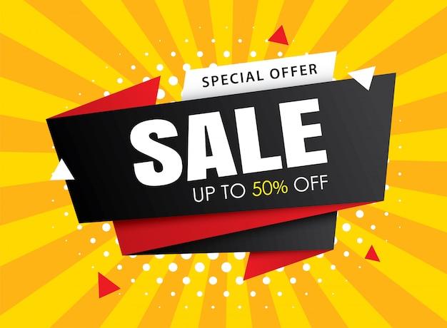Sale banner templates. gebruik voor posters, winkelen, e-mail, advertenties.