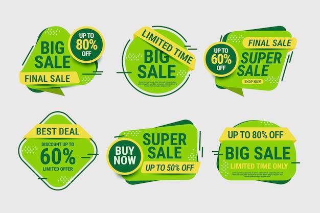 Sale labels collectie met korting