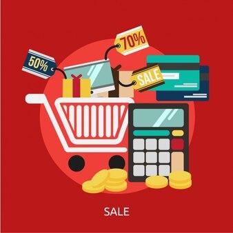 Sales achtergrond ontwerp