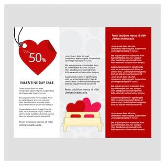 Sales valentijn driebladige