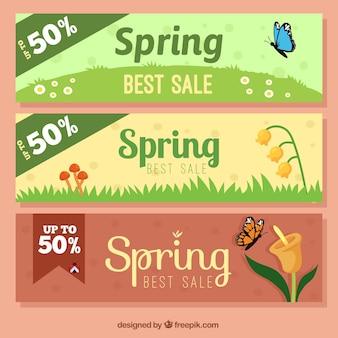 Sales voorjaar banners