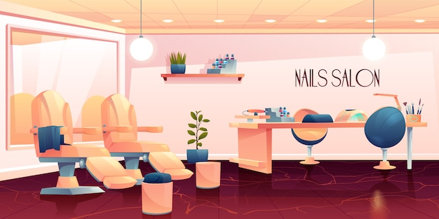 Salon voor manicure, pedicure nagels zorg procedures