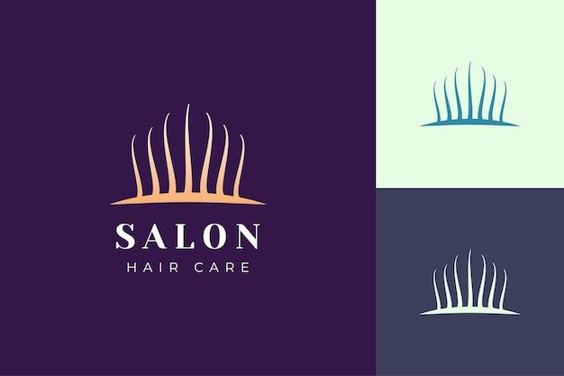 Salonlogo-sjabloon met eenvoudige en luxe haarvorm