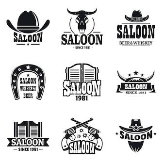 Saloon logo set