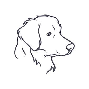 Saluki-hond - vectorembleem / pictogramillustratiemascotte