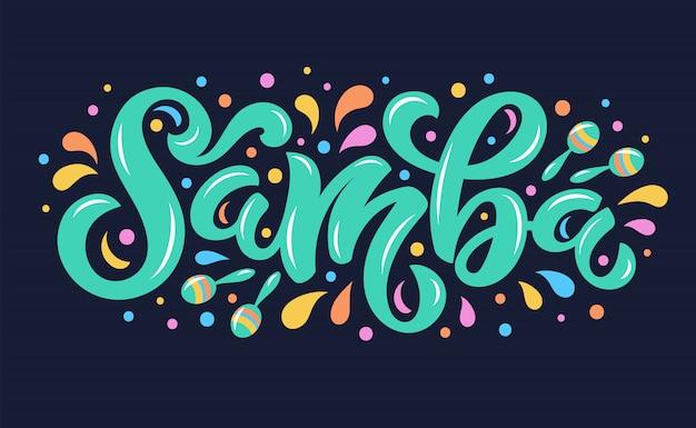 Samba belettering achtergrond