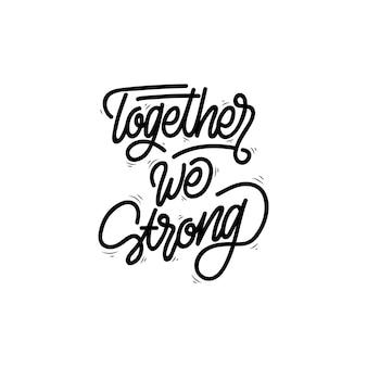 Samen hebben we sterke handschriften