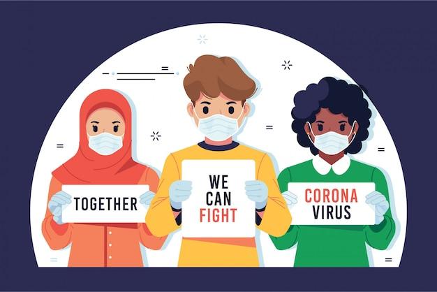 Samen kunnen we het coronavirus bestrijden