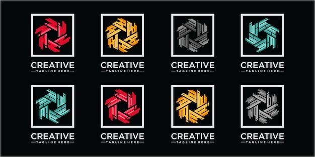 Samen modern patroon logo voor gemeenschap en business consulting company. platte vector logo sjabloon ontwerpelement. brief gemeenschap logo ontwerpconcept
