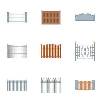 Samengestelde pictogrammenset, vlakke stijl