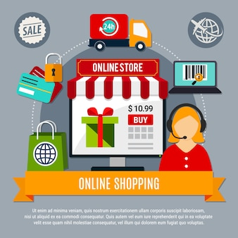 Samenstelling online winkel
