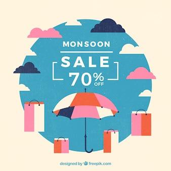 Samenstelling van de het seizoenverkoop van de moesson met vlak ontwerp