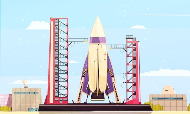 Samenstelling van de raketten op de site