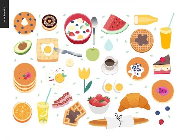 Samenstelling van het ontbijt