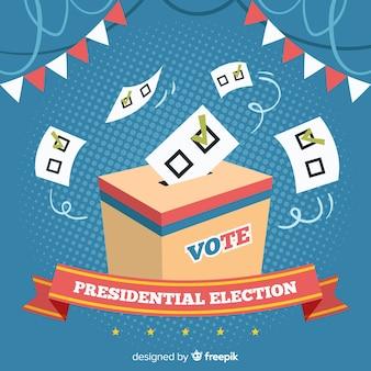 Samenstelling van presidentsverkiezingen met een plat ontwerp