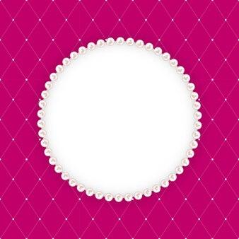 Samenvatting beautuful met pearl frame. illustratie