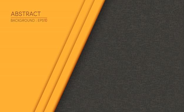 Samenvatting geel op zwarte ontwerp moderne achtergrond