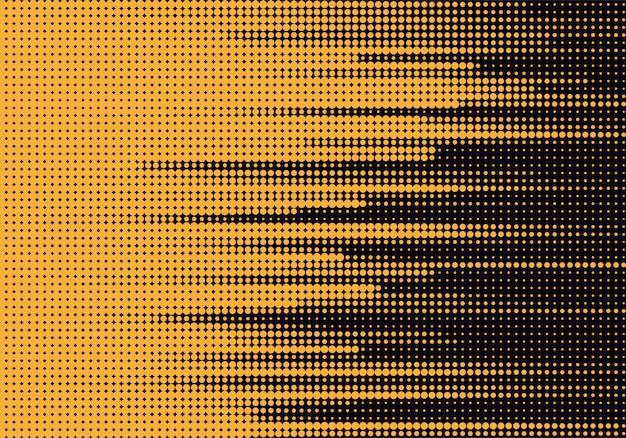Samenvatting gestippelde gele en zwarte achtergrond