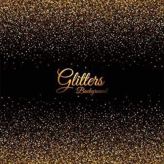 Samenvatting met gouden glitters textuur