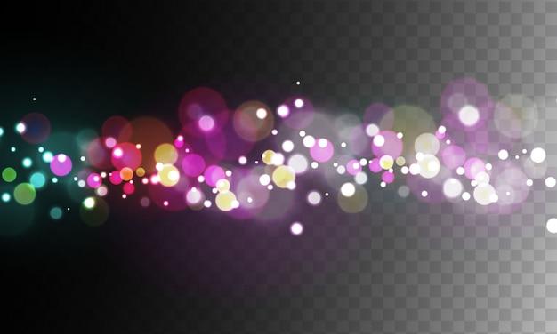 Samenvatting vaag licht kleurrijk bokeh