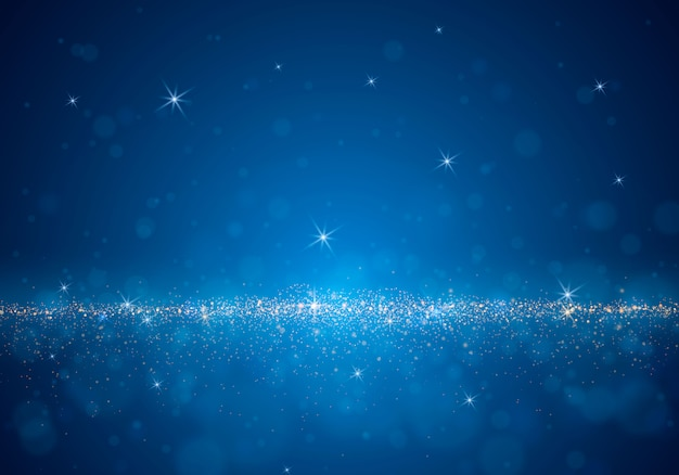 Samenvatting vage achtergrond met lichte schittering, bokeh en gloeiende deeltjes.