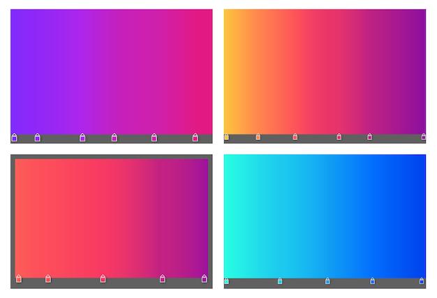 Samenvatting vage achtergrond van het gradiëntnetwerk in heldere kleurrijke vlot.