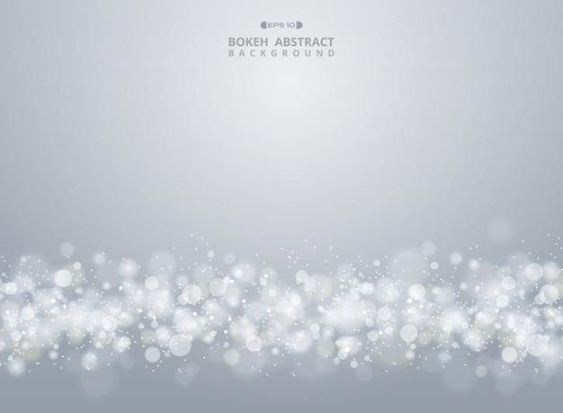 Samenvatting van achtergrond van kerstmisgradiënt de grijze bokeh