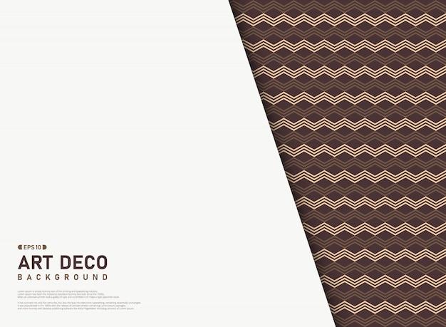 Samenvatting van art deco-lijnpatroon met vrije ruimteachtergrond