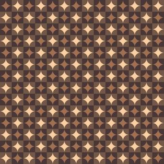 Samenvatting van art deco ronde geometrische patroonachtergrond.