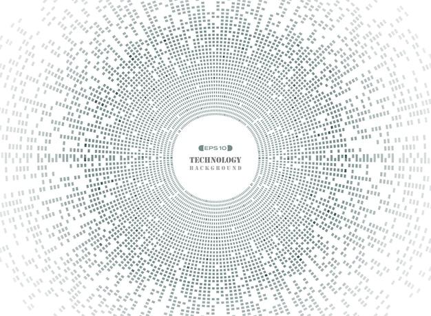 Samenvatting van cirkel vierkant patroon