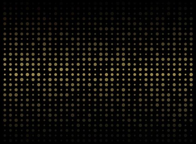 Samenvatting van de donkere achtergrond op gouden cirkel willekeurige grootte patroon.