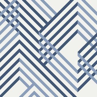 Samenvatting van geometrisch blauw patroonontwerp.