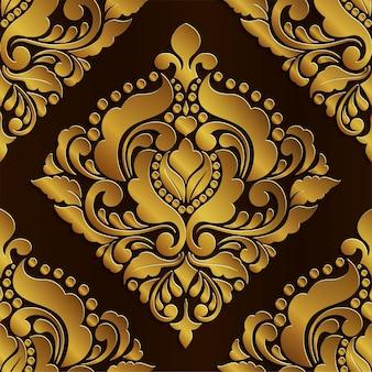Samenvatting van gouden patroon naadloos ontwerp