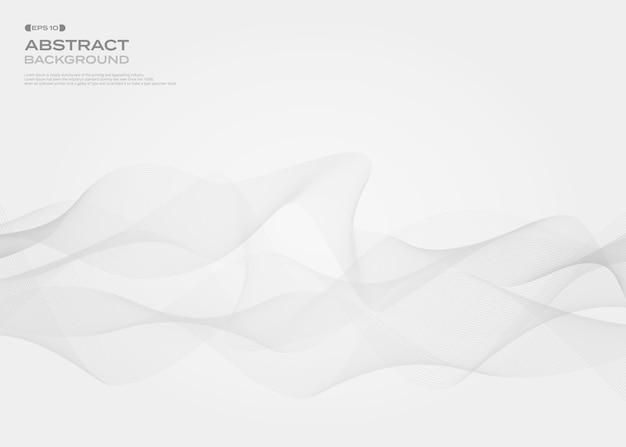 Samenvatting van grijze vrije stijl streep lijn patroon achtergrond.