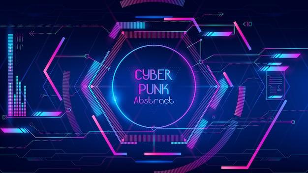 Samenvatting van hi-tech hub als cyber punkachtergrond