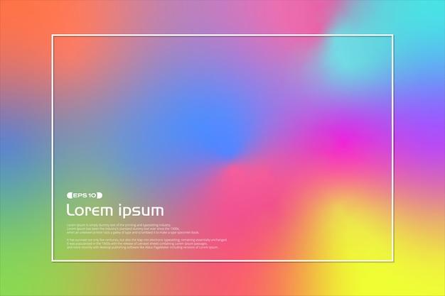 Samenvatting van vloeibaar kleurenbehang.