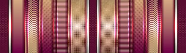 Samenvatting vloeiend op gradiënt paars en goud patroon achtergrond wazig