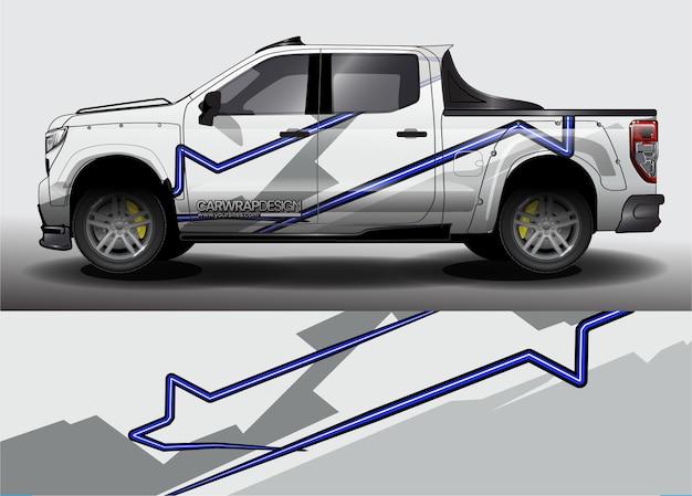 Samenvatting voor vrachtwagen, racewagenwrapontwerp en voertuigkleuren