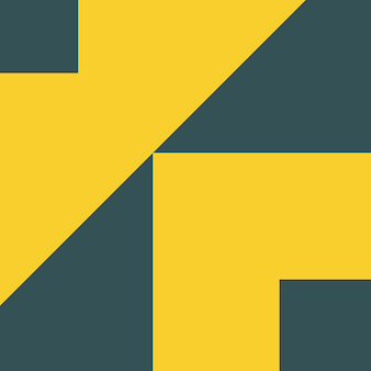 Samenvatting, vormen, houtskool, gele achtergrond vectorillustratie als achtergrond