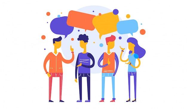 Samenwerken aan het vinden van nieuwe ideeën, personeelsbehoeften. zakelijke illustratie vectorafbeelding